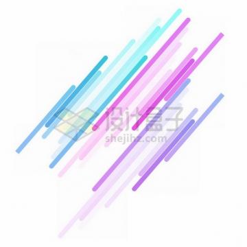 彩色斜线条装饰632191png免抠图片素材