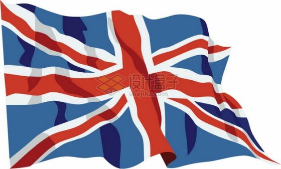 飘扬的英国米字旗国旗图案png图片素材