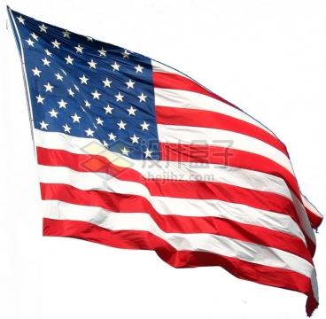 飘扬的美国星条旗国旗图案png图片素材