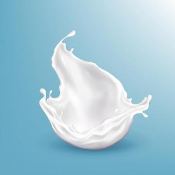 溅落的牛奶乳白色液体效果png图片免抠矢量素材