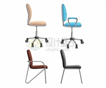 彩色转椅和办公椅805777png矢量图片素材