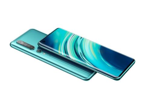 蓝色小米10Pro手机正反面png图片免抠素材