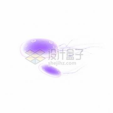 紫色带鞭毛的3D立体细菌病毒889278png图片素材