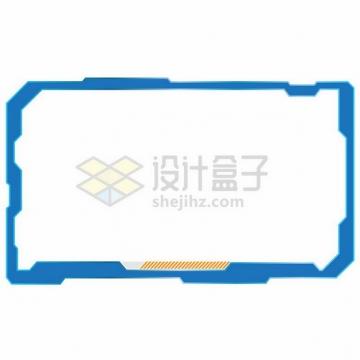 蓝色科幻风格的方框边框文本框信息框269843png图片素材