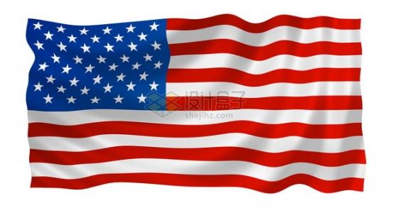 飘动的美国星条旗国旗图案png图片素材