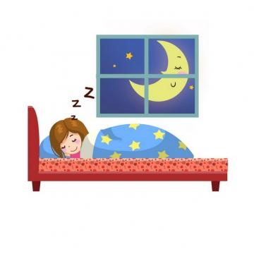 卡通女孩睡觉晚安最美758891png图片素材
