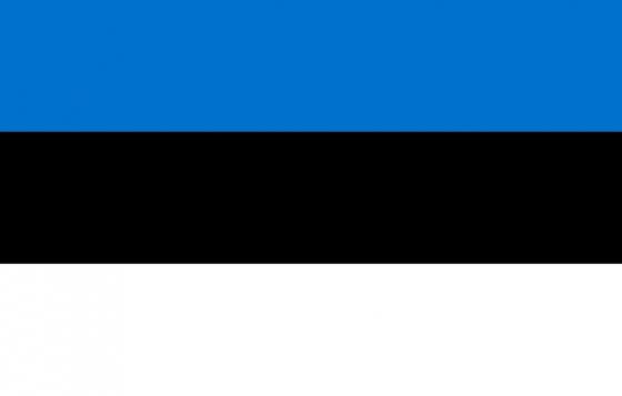 标准版爱沙尼亚国旗图片素材