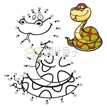 儿童绘画游戏画一条蛇png图片免抠素材
