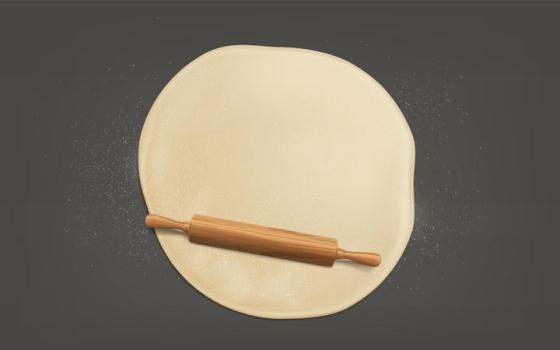 擀面杖正在将面粉擀面和面美食工具png图片免抠矢量素材