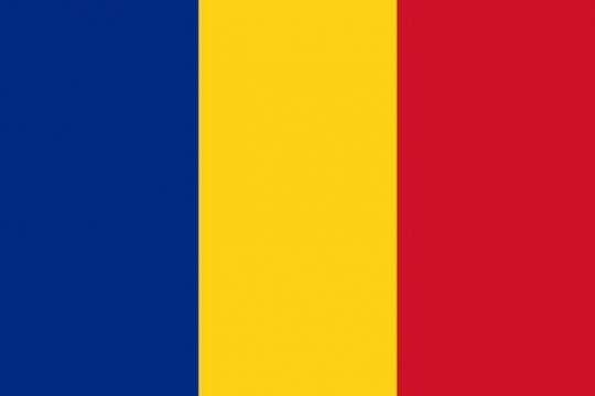 标准版罗马尼亚国旗图片素材