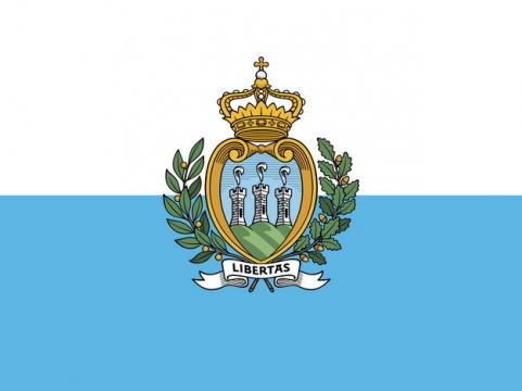 标准版圣马力诺国旗图片素材