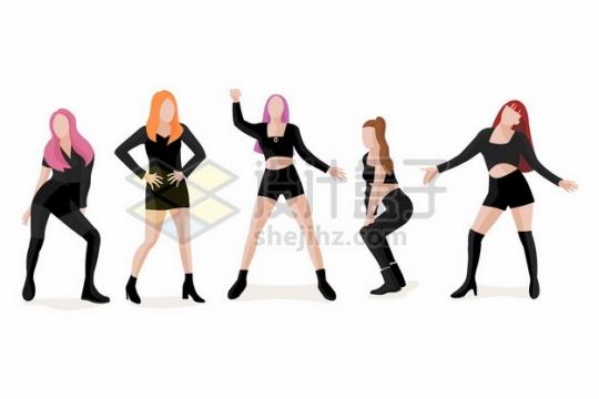 正在跳舞搔首弄姿的女团美女664373图片免抠矢量素材