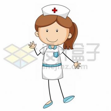可爱卡通护士线条人物2896089png图片素材