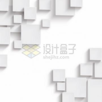 白色方块装饰472009png图片素材