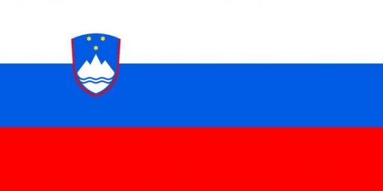 标准版斯洛文尼亚国旗图片素材